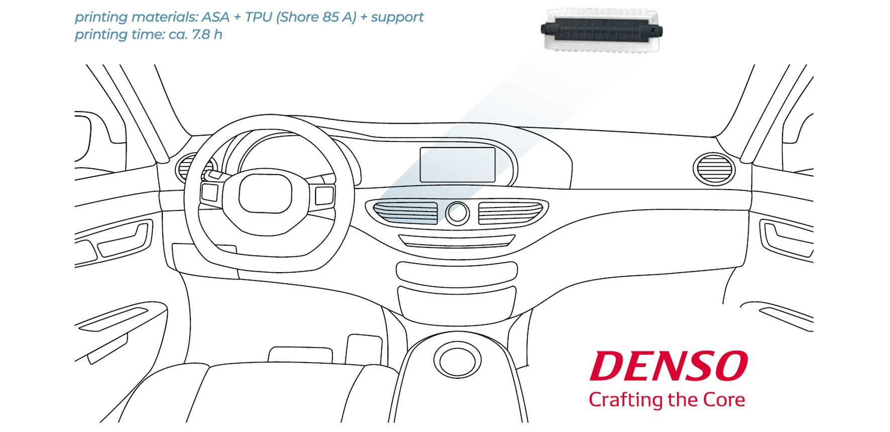 Car Air Conditioning system with regulator flap by DENSO