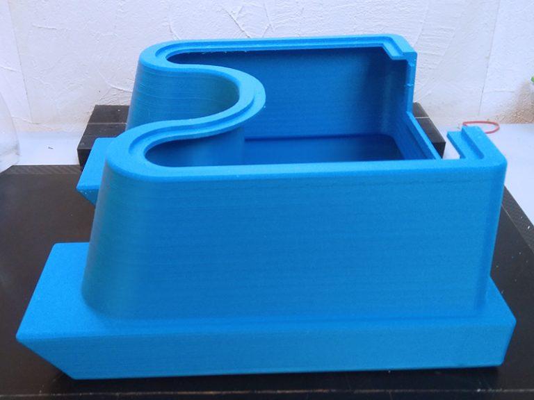 Un dettaglio della stampa 3D con stampanti 3ntr